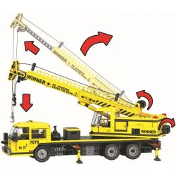 Winner 7079 Xếp hình kiểu Lego CITY Little Engineers Little Engineer Crane Cần Cẩu Vàng 507 khối