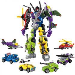 Enlighten 1404 (NOT Lego Transformers Variant Series:destroyer Ares ) Xếp hình Robot Chiến Binh Ares gồm 6 hộp nhỏ lắp được 7 mẫu 506 khối