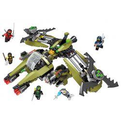 Lele 31094 (NOT Lego Ninjago Movie Green Aircraft ) Xếp hình Siêu Máy Bay Chiến Đấu Của Ninja 555 khối