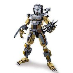 SLUBAN M38-B0720A B0720A 0720A M38B0720A 38-B0720A Xếp hình kiểu Lego ALIEN VS. PREDATOR Head-shaped Battle, Blood Warrior Người Ngoài Hành Tinh 556 khối