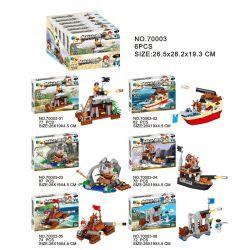 Qizhile 70003 (NOT Lego Pirates of the Caribbean Fortress, Gunboat ) Xếp hình Trận Đánh Của Quân Đội Hoàng Gia Và Cướp Biển 6 Trong 1 450 khối