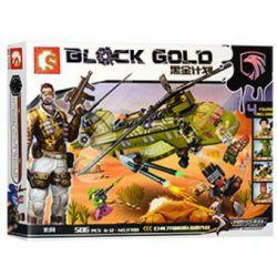 Sembo 11700 (NOT Lego SWAT Special Force Black Gold:sepcial Forces Operations ) Xếp hình Lực Lượng Đặc Biệt Ch7 gồm 2 hộp nhỏ 506 khối