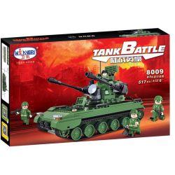 Winner 8009 Xếp hình kiểu Lego TANK BATTLE TankBattle Land War 07 Style Cannon Xe Tăng được Trang Bị Rada lắp được 4 mẫu 517 khối