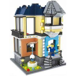 HSANHE 6702 Xếp hình kiểu Lego MODULAR BUILDINGS Opera House Nhà hát Opera 504 khối