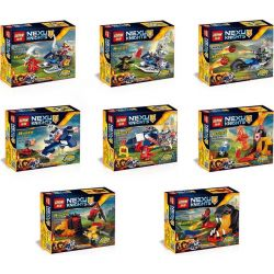 LEPIN 03033 03033A 03033B 03033C 03033D 03033E 03033F 03033G 03033H Xếp hình kiểu Lego NEXO KNIGHTS Nexu Knights Element Knight 8 8-in-one 1 8 Chiến Binh Nguyên Tố gồm 8 hộp nhỏ 504 khối