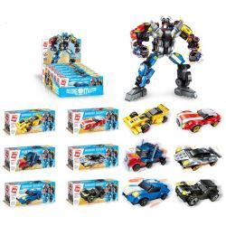 Enlighten 1409 (NOT Lego Transformers Warrior Calamity ) Xếp hình Người Máy Biến Hình Được Kết Hợp Từ 6 Chiến Xe Ô Tô gồm 6 hộp nhỏ lắp được 7 mẫu 518 khối