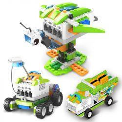 Kazi KJ30030 (NOT Lego Mindstorms EV3 Wedo 2.0 STEAM Kido ) Xếp hình Lập Trình Điều Khiển Từ Xa Bằng Điện Thoại, Máy Tính Bảng 327 khối