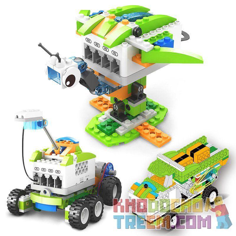 Kazi KJ30030 30030 Xếp hình kiểu Lego MINDSTORMS Kido lập trình điều khiển từ xa bằng điện thoại, máy tính bảng 327 khối điều khiển từ xa