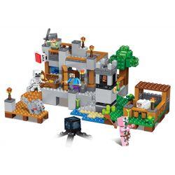 LELE 33191 Xếp hình kiểu Lego MINECRAFT My World Bay Pier Village Mine Portal Khu Khai Thác 517 khối