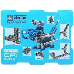 Kazi KJ30020 30020 Xếp hình kiểu Lego TECHNIC EP1 Small Particle Electric Kit động Cơ Pin 800 khối có động cơ pin