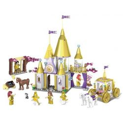 Kazi KY98711 (NOT Lego Disney Princess Golden Princess ) Xếp hình Lâu Đài Bằng Vàng Của Công Chúa 500 khối
