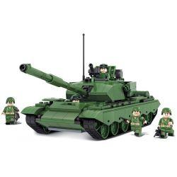 Winner 8008 Xếp hình kiểu Lego TANK BATTLE TankBattle Land War 99-style Main Tank Xe Tăng Quân Sự 492 khối