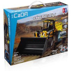 DOUBLEE CADA C51058 51058 Xếp hình kiểu Lego TECHNIC DeRECH Wheel Loaders Xe Xúc đất Có điều Khiển 491 khối điều khiển từ xa