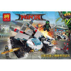 LELE 31058 Xếp hình kiểu THE LEGO NINJAGO MOVIE Phantom Ninja Roaring Titan Battle Xe Tăng Con Bọ Của Ninja 487 khối