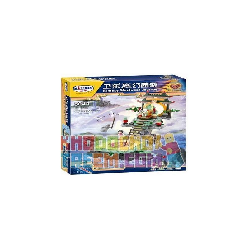 Winner 5044 Xếp hình kiểu Lego MONKIE KID Fantasy Westward Journey The Inch Mountain Wei Music Magic Westward Journey Võ đài Của Fang 487 khối