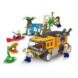 Qizhile 25005 (NOT Lego Classic Jungle Expedition: Truck, Carnivores, Waterfall ) Xếp hình Khám Phá Rừng Nhiệt Đới: Xe Tải, Cây Ăn Thịt, Thác Nước 486 khối