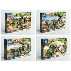 Kazi KY84052 84052 KY84052-1 84052-1 KY84052-2 84052-2 KY84052-3 84052-3 KY84052-4 84052-4 Xếp hình kiểu Lego FIELD ARMY Field Troops Baoyang Missile Launch Training Car 4 Combination 30N6E2 Guidance