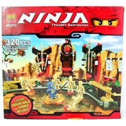 Bela 9731 (NOT Lego Ninjago Movie 2519 Skeleton Bowling ) Xếp hình Skeleton Bowling 371 khối