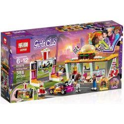 Lepin 01070 Sheng Yuan 1157 Bela 11038 (NOT Lego Friends 41349 Drifting Diner ) Xếp hình Đội Đua Ăn Mừng Chiến Thắng 345 khối