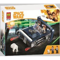 Bela 10897 (NOT Lego Star wars 75209 Han Solo's Landspeeder ) Xếp hình Chiếc Xe Của Han Solo's 345 khối