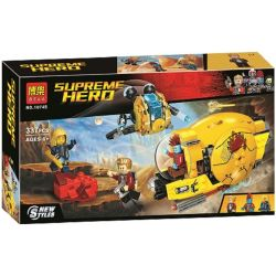 Bela 10745 (NOT Lego Marvel Super Heroes 76080 Ayesha's Revenge ) Xếp hình Sự Trả Thù Của Ayesha's 323 khối