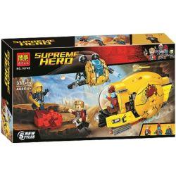 Bela 10745 Lari 10745 Xếp hình kiểu Lego MARVEL SUPER HEROES Ayesha's Revenge Galaxy Guards 2 Auras Sự Trả Thù Của Ayesha's 323 khối