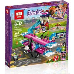 Sheng Yuan 1151 Lepin 01073 Lele 37096 Bela 11032 (NOT Lego Friends 41343 Heartlake City Airplane Tour ) Xếp hình Máy Bay Hồng Tại Thành Phố Heartlake 323 khối