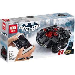 LEPIN 07111 MOULDKING 13020 13030 Xếp hình kiểu Lego DC COMICS SUPER HEROES App-Controlled Batmobile App Remote Policy Xe ô Tô Batman điều Khiển Bằng Phần Mềm điện Thoại 321 khối điều khiển từ xa