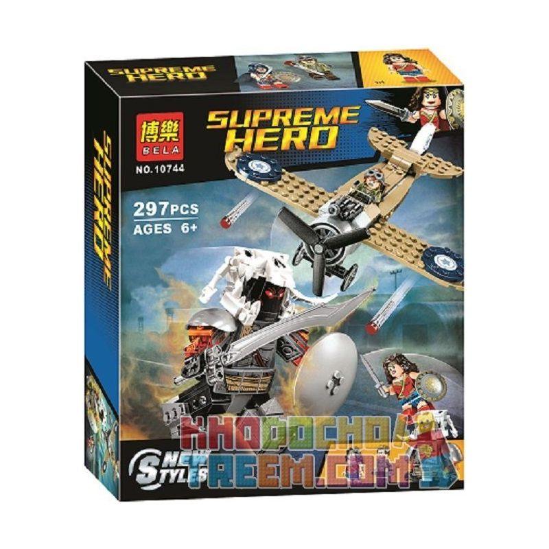 Bela 10744 Lari 10744 Xếp hình kiểu Lego DC COMICS SUPER HEROES Wonder Woman Warrior Battle Magical Women's Fight Trận Chiến Của Wonder Woman 286 khối