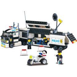 NOT Lego WORLD CITY 7034 Surveillance Truck Monitor Truck Explosion-proof Tracking Vehicle , Enlighten 128 Qman 128 Xếp hình Xe Tải Giám Sát Của Cảnh Sát 261 khối