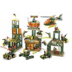 Kazi KY84062 84062 KY84063 84063 KY84064 84064 KY84065 84065 Xếp hình kiểu Lego FIELD ARMY Field Troops Wolf Tooth Squad Wilderness Base 4 Combination Wilderness Firearms Bore, Wilderness High-tech Gu