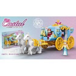 XINGBAO XB-12020 12020 XB12020 Xếp hình kiểu Lego DISNEY PRINCESS Princess Carriage Xe ngựa của công chúa 349 khối