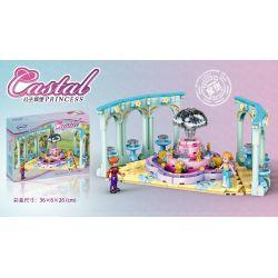 XINGBAO XB-12023 12023 XB12023 Xếp hình kiểu Lego CASTAL PRINCESS Castal Peincess Royal Fountain Princess Castle Đài Phun Nước Hoàng Cung 42 khối