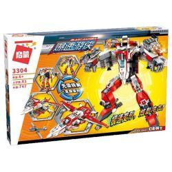 Enlighten 3304 Qman 3304 Xếp hình kiểu Lego TRANSFORMERS Blast Ranger Ramadama Phantom Knight Người Máy Biến Hình Phi Thuyền lắp được 2 mẫu 747 khối