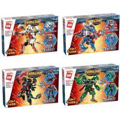 Enlighten 3101 (NOT Lego Transformers Mecha Corps ) Xếp hình 4 Bộ Robot Biến Hình gồm 4 hộp nhỏ 741 khối