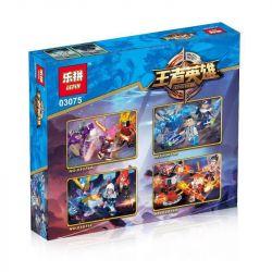 Lepin 03075 (NOT Lego King of Glory Hegemony King Hero ) Xếp hình 4 Nhân Vật gồm 4 hộp nhỏ 733 khối