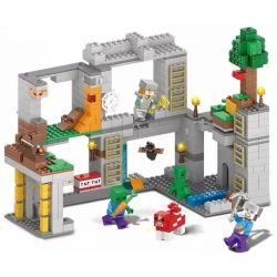 SHENG YUAN SY 1040 Xếp hình kiểu Lego MINECRAFT MY WORLD Red Rock Adventure Cuộc Phiêu Lưu 732 khối