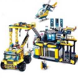 Enlighten 2412 Qman 2412 Xếp hình kiểu Lego KYANITE SQUAD Kyanite Squad Alpha Exploration Base Slim Squad Trại Khai Thác đá 753 khối