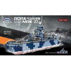 XINGBAO XB-06027 06027 XB06027 Xếp hình kiểu Lego MILITARY ARMY Bora Mrk-27 Bravel Level Russian Naval Air Cushboard Missile Ship Surface Hard Holly Cushion Tàu đệm Khí 745 khối