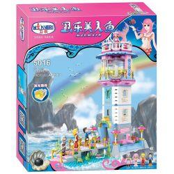 Winner 5016 Xếp hình kiểu Lego MERMAID Wei Mei Fish Lighthouse Ngọn Hải Đăng 743 khối