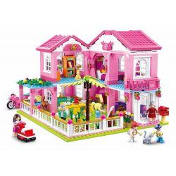 Sluban M38-B0721 (NOT Lego Friends Holiday Villa ) Xếp hình Biệt Thự Nghỉ Dưỡng 896 khối