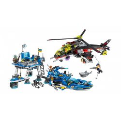 Enlighten 2720 Qman 2720 Xếp hình kiểu Lego THE HIGH-TECH ERA Technology Era I Harbor Tấn Công Trạm Canh Gác Trên Biển 724 khối