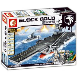 SEMBO 12261 Xếp hình kiểu Lego BLACK GOLD Black Plan Nimitzair Tàu Sân Bay 716 khối