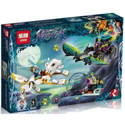 LEPIN 30019 Xếp hình kiểu Lego ELVES Emily & Noctura's Showdown Elf Amyli With A Showdown Of The Night Song Emily Cùng Sói Trắng đối đầu Noctura ở Phòng Thí Nghiệm Dơi 650 khối