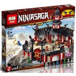 Bela 11165 Lari 11165 BLANK 80018 LEPIN 06098 SHENG YUAN SY SY1255 1255 Xếp hình kiểu THE LEGO NINJAGO MOVIE Monastery Of Spinjitzu Mysterious Phantom Rotation Training Hall Đấu Trường Luyện Tập 1070
