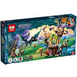 LEPIN 30020 Xếp hình kiểu Lego ELVES The Elvenstar Tree Bat Attack Elf Bat Attack Elf Tree Dơi Tấn Công Nhà Cây 883 khối