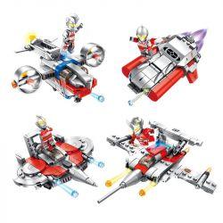 Panlosbrick 690001 (NOT Lego Ultraman Ultraman ) Xếp hình Phi Thuyền 4 Trong 1 766 khối
