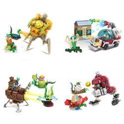 Sheng Yuan 1211 (NOT Lego Plants vs Zombies Plants Vs Zombiles ) Xếp hình 4 Trong 1 gồm 4 hộp nhỏ 732 khối