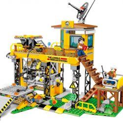 SEMBO 603032 Xếp hình kiểu Lego RESCUE TEAM Doomsday Rescue {base} Trạm Cứu Hộ Trong Rừng 725 khối