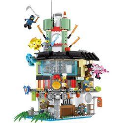 LELE 31099 Xếp hình kiểu THE LEGO NINJAGO MOVIE The LELE NINJA Movie Ninja Ninja Ninja City Shrink Thành Phố Ninja 716 khối